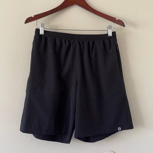 Onsie Black Patched Drawstring Pocket Shorts S
